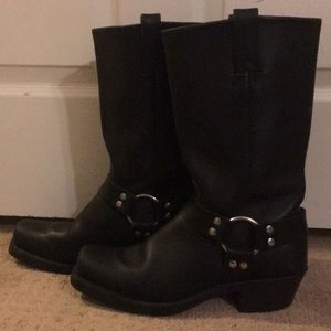 Frye Black Harness Boots 9